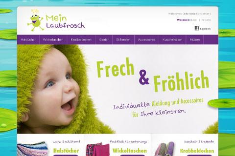 Onlineshop – Mein Laubfrosch